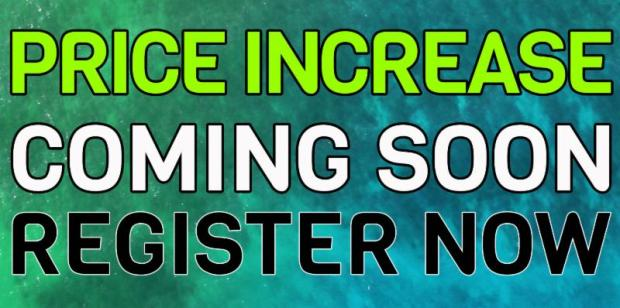 Price Increase Coming Soon